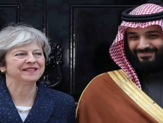 Mohammed Ben Salmane et Theresa May