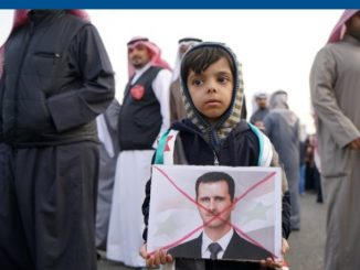 Manifestation contre Bachar Al-Assad